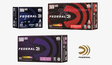 Federal is introducing three new types of Syntech ammunition: Syntech Defense, Syntech PPC and Syntech Training Match.