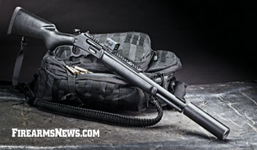 The Marlin 1895 Dark Series suppressor-ready and modern levergun in .45-70!