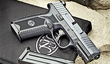 The FN 509 9mm pistol is priced right about in the middle of the pack; some might quibble that it comes in a soft nylon case in a cardboard box when competitors are shipping in molded plastic cases, but it does come with two magazines and a spare backstrap.