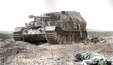 The last of Germany's infamous Elefant tank destroyers.