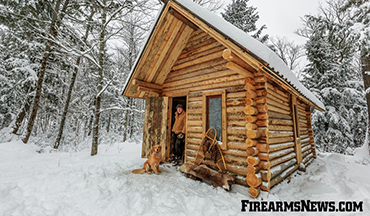 A Log Cabin Built by One Man Alone in the Wilderness