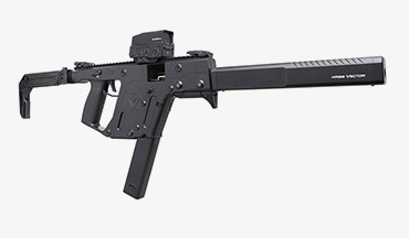 The KRISS USA extended 10mm Vector mag takes the 15 round capacity of the G20 magazine and increases it to 33 rounds.
