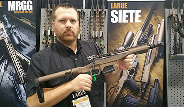 New from LaRue Tactical is the Siete pistol. It's a bolt-action design in .308 Win with a 10-inch barrel and side-folding Gearhead Works brace.