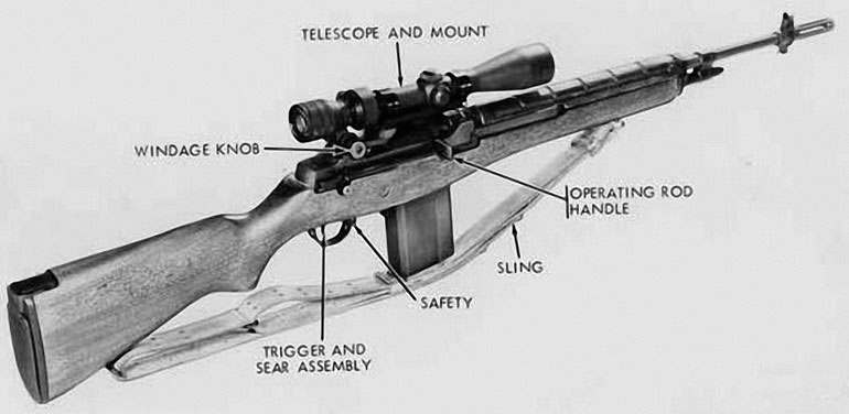 US Army M21 Sniper Rifle