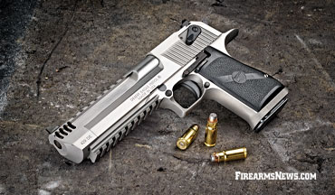 The Desert Eagle originally released in 1982 chambered in .44 Magnum. In this article, Patrick Sweeney reviews the Magnum Research Desert Eagle chambered in the relatively new .429 DE cartridge.