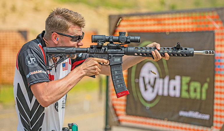 The number of rifle scopes either marketed for or suitable for 3-gun competition has never been greater. Here's a look at some of the top brands.