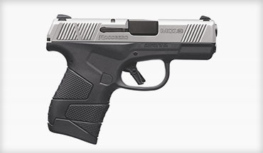 The MC1sc Stainless Two-Tone subcompacts join the recently-introduced family of four MC1sc models as Mossberg's first semiauto pistols in the company's 100-year history.