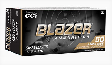 Blazer Ammunition has expanded its selection of range ammunition with a 147-grain 9mm Luger Blazer Brass load designed for realistic high-volume training.