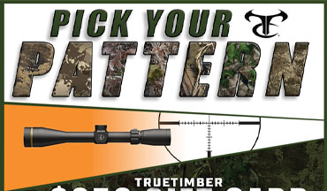 TrueTimber has announced the Pick Your Pattern Giveaway with partners Thompson/Center and Leupold.