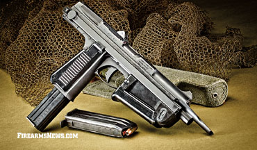 The Pioneer Arms 9x18mm PM-63C is a semi-auto pistol version of the Cold War era Polish PDW.