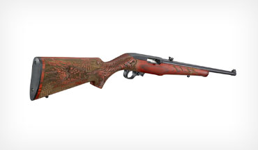 This special engraved dragon design on the stock gives an edgy twist to the Ruger 10/22 Sporter.
