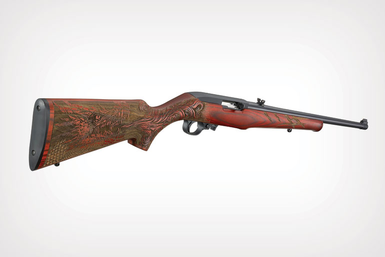 Ruger 10/22 Sporter with Dragon Engraved Stock
