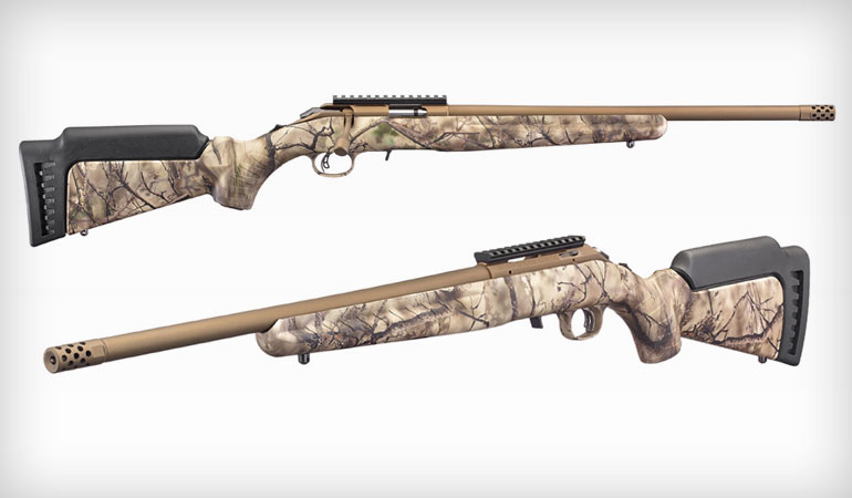 Ruger American Rimfire with Go Wild Camo I-M Brush Stock