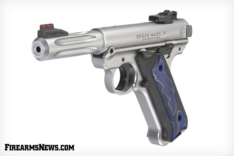 This unique distributor exclusive which puts an edgy spin on the classic Ruger Mark IV Hunter pistol. This special makeup features a 4.50