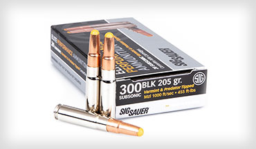 SIG Sauer, Inc. has added a 205gr subsonic 300BLK load to its Tipped Hunting line of ammunition.