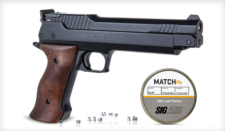 SIG Super Target Air Pistol and New Line of Pellets Now Available