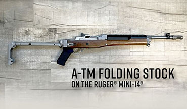 Samson Manufacturing has introduced an almost exact copy of the classic Ruger side-folding stock made famous by the A-Team TV Show and aptly named it the A-TM stock!