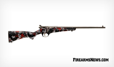 The Savage Rascal Red, White, & Blue is dressed in an American flag camo pattern that creates a colorful homage to Old Glory, making this the perfect fit for patriotic young shooters.