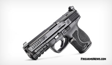 "The Smith & Wesson Optics-Ready M&P9 M2.0 Compact pistol is available with a 4"" optics-ready slide and enlarged forward slide serrations."
