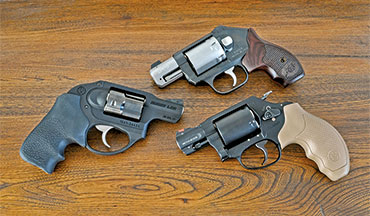 Snub-nose revolvers offer simplicity and ease of use, which are big selling points; here are reviews of the Smith & Wesson Model 360, Ruger LCR and Kimber K6s.