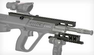 Steyr Arms USA is now offering two new ingenious aftermarket accessories to enhance a Steyr AUG from Corvus Defensio.