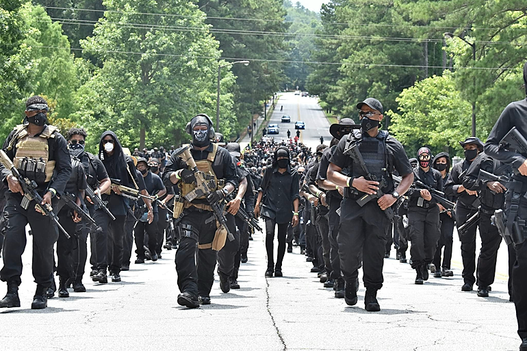 Armed NFAC Black Militia at Stone Mountain