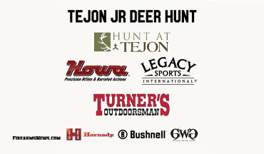 Legacy Sports Int'l , Howa Rifles and Turner's Outdoorsman are teaming up in cooperation with Tejon Ranch. to sponsor the 2020