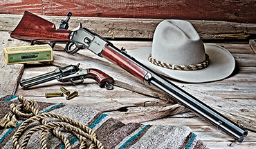"A Review of Cimarron's 1876 Centennial ""Tom Horn"" Lever-Action Rifle in .45-60. Plus, an Interview with Actor and Friend of Steve McQueen, Mel Novak!"