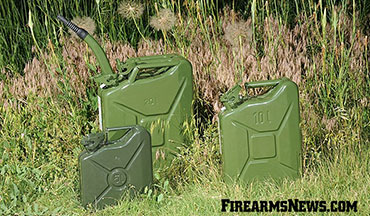 The Jerry can remains the best solution for an easily portable fuel container.