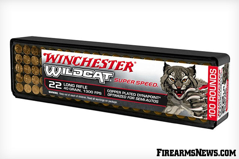 New from Winchester Ammunition is Wildcat Super Speed .22 LR ammunition featuring a copper plated Dynapoint 40-grain bullet optimized for semi-autos!