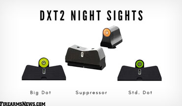XS Sights is offering line extensions for its second-generation DXT2 Night Sights and a non-tritium rear option in the new DXW2 Night Sights for Glock, SIG SAUER, Smith & Wesson and other select pistol models.