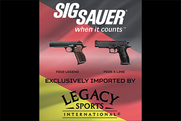 Legacy Sports International announced the development of a new partnership between SIG SAUER Germany and Legacy Sports International.