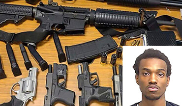 Rico Abednego Neequaye Marley was discovered in a Publix supermarket restroom allegedly loading one or more firearms.