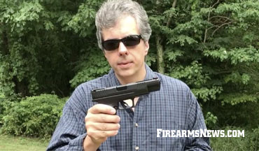 Editor Vincent DeNiro tests the Springfield Armory XD-M 10mm pistol.