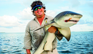 There's a science to catching sharks on a fly.