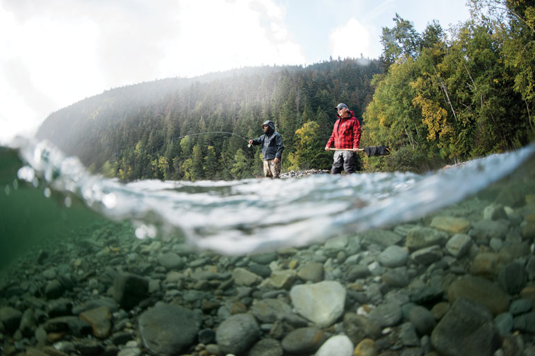 The Quesnel watershed isn't a place that requires delicate presentations.