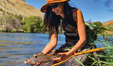 Fly fishing is more than a sport to Kayla Lockhart, it's the tool she uses to manage her recovery from a broken childhood.