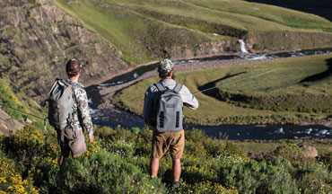 Sight fishing for Yellowfish in the Kingdom of Lesotho.
