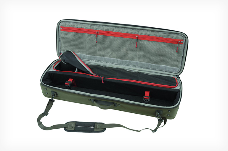 Ultimate gear carrying case with capacity for up to 8 rods and 10 reels.