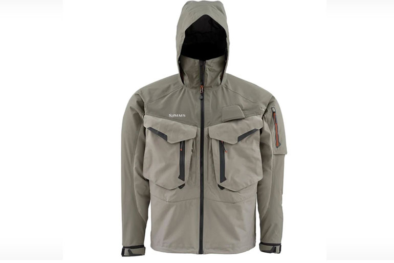 The Simms G4 Pro Wading Jacket is a stormproof wear-all-day fishing jacket.