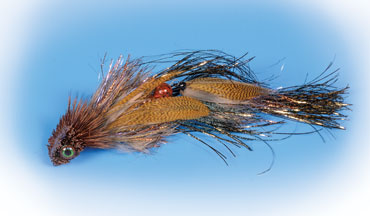 A wedge-head streamer with a deer-hair diving lip.