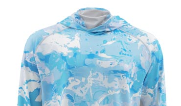 The Cloud Camo Solar Flex Armor Shirt is the perfect top for fishing in the tropics.