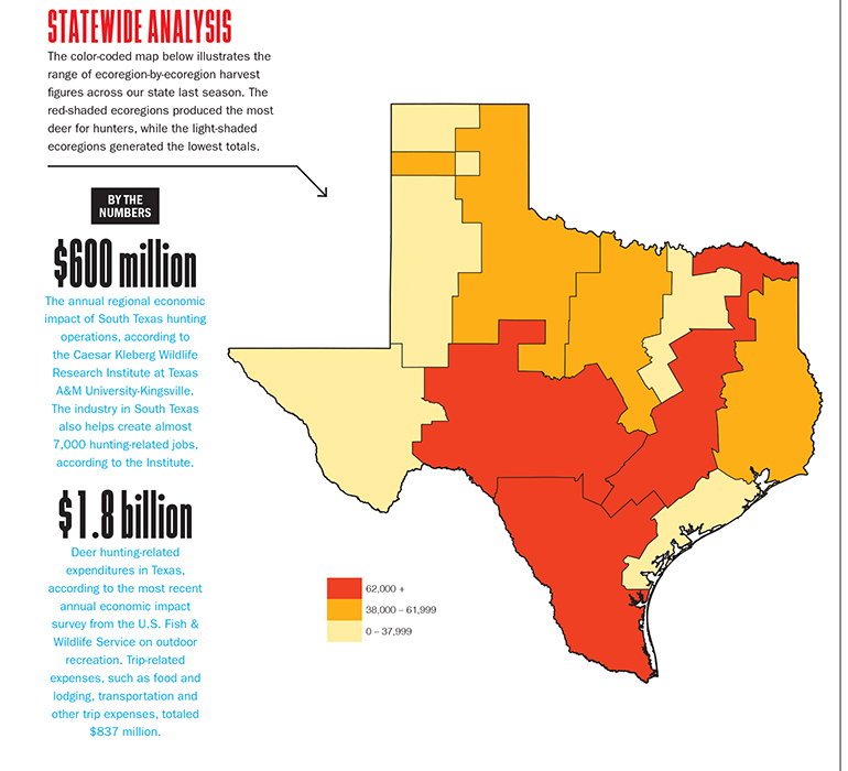 Population Map Of Texas.2018 Texas Deer Forecast Game Fish