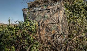Portable ground blind when bigger and better is required for hunting.