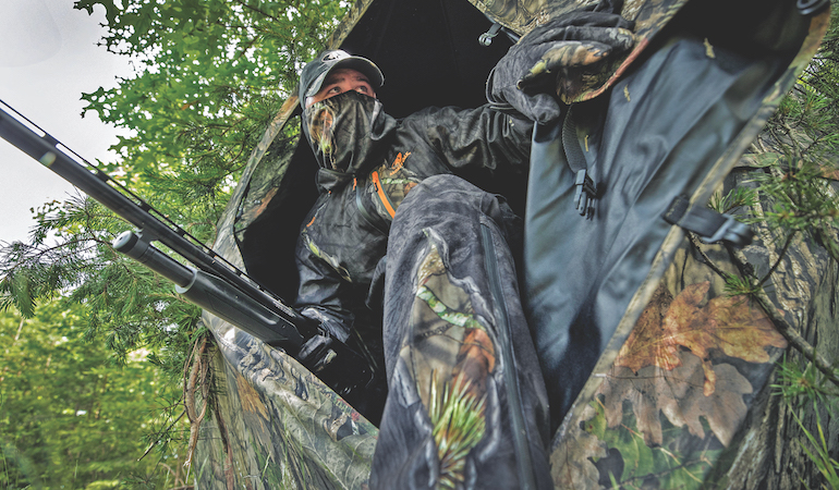 Love 'em or hate 'em, ground blinds offer hunters another option when pursuing their favorite game.