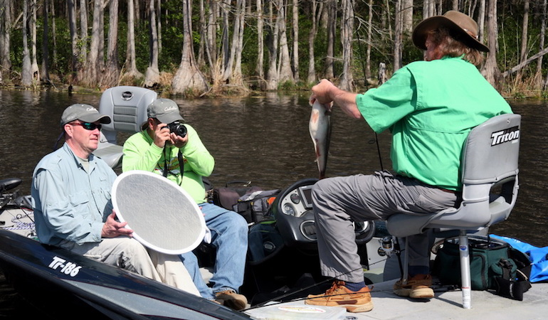 Portable, collapsible reflectors are inexpensive tools that can greatly improve your fishing photos.