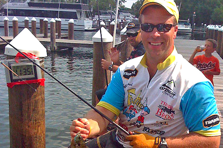 Jeff Kolodzinski attempted to break his own 24-hour world record for most fish caught.