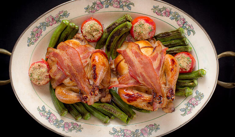 Bacon-Wrapped Poussin Recipe