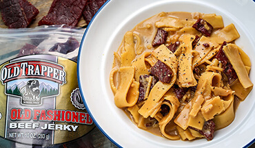 If you're looking to cook a convenient, hearty meal at deer camp, keep this beef jerky recipe in your back pocket.