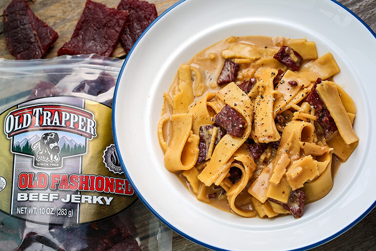 Beef Jerky and Noodles Recipe